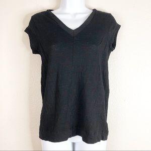 ☀️Catherine Malandrino Black Linen Tee Shirt